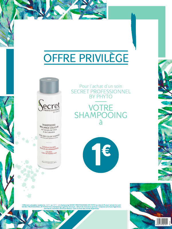 shampooing offre 1€